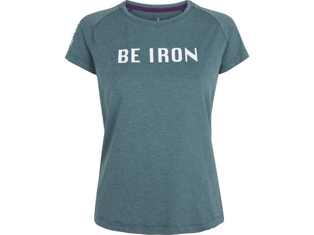 Fe226 Be Iron DryRun Camiseta Prep Mujer, Azul petróleo